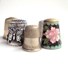 Vintage Sewing Thimbles from the 1940s Metal by widgetsandwhatsus