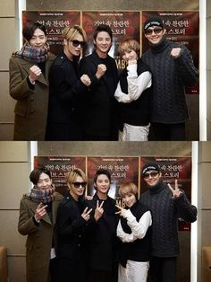Jaejoong, Yoochun's brother, and Gummy cheer on Junsu for his musical 'December'