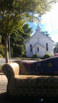 Mosaic settee in nearby Paddington, Brisbane, Australia