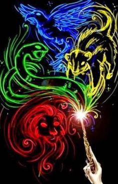 The four Hogwarts Houses: Gryffindor, slytherin, ravenclaw, hufflepuff Harry Potter Fan Art, Harry Potter Casas, Mundo Harry Potter, Harry Potter Fandom, Harry Potter Universal, Harry Potter Memes, Harry Potter World, Harry Potter Hogwarts, Harry Potter House Quiz