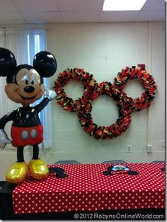 Homemade Mickey Mouse wreath