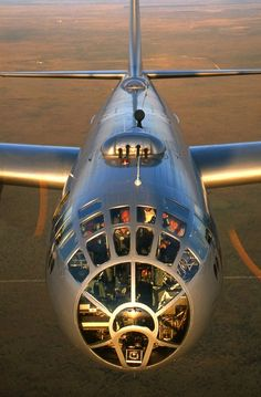 Not a very common view of a B29 Superfortress!