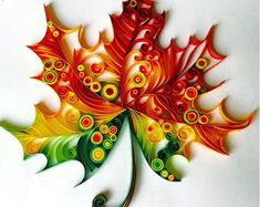 Maple Leaf - Unique Paper Quilled Wall Art for Home Decor (paper quilling handcr. - Maple Leaf – Unique Paper Quilled Wall Art for Home Decor (paper quilling handcrafted art piece m - Quilled Paper Art, Paper Quilling Designs, Quilling Paper Craft, Paper Crafting, Owl Paper, Quilling Flowers Tutorial, Free Quilling Patterns, Paper Tree, Arte Quilling