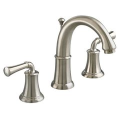 View Portsmouth 2-Handle 8 Inch Widespread High-Arc Bathroom Faucet with Lever Handles in Satin Nickel (295)