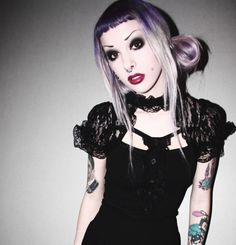 #pastel #goth #nugoth #purple #hair #lavender #violet #lilac