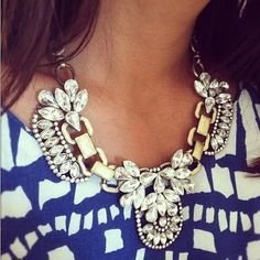 Statement Necklace, Bib Necklace, Crystal Necklace, Party Necklace(CN0048) via Etsy