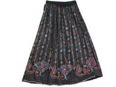 Bohemian Sequin Skirts Black Pink Allover Beaded Boho Long Skirt Mogul Interior,http://www.amazon.com/dp/B00DQ6Z8H0/ref=cm_sw_r_pi_dp_o5qgsb0RK81HHN52