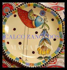 ANI ALONSO Ceramic Bird Bath, Ceramic Decor, Ceramic Art, Happy Paintings, Cool Paintings, Pottery Painting, Ceramic Painting, Glaze Paint, Clay Tiles