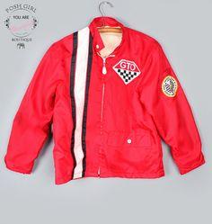 1960's Red GTO Side Stripe Vintage Racing Jacket