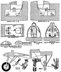 Проекции кабины И-16