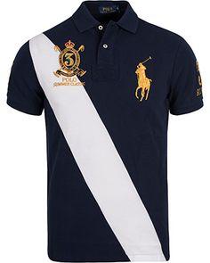 Polo Ralph Lauren Blackwatch Diagonal Stripe Polo French Navy i gruppen  Pik� / Kort�rmad Pik� hos