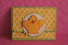 Easter Baby Chick Gift Card Holder - Check him out in my Etsy store - PaperKayper