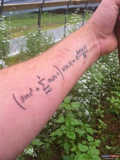 Madrhiggs will implement the Dirac equation.  Great tattoo of Diracs equation.
