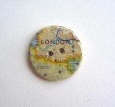 Handmade ceramic sew on button