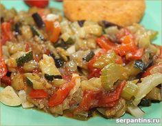 Баклажаны по-французски. Вкусное и полезное блюдо состоящее только из овощей.