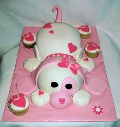 Make this cute cake using 2 of Wilton's sports ball cake forms. So cute.