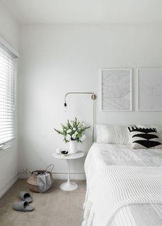 White Bedroom with Menu Warren lamp