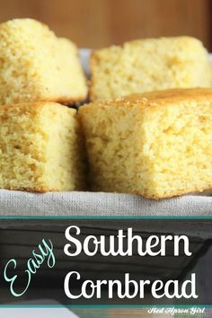 Easy Southern Cornbread, I used to think mixes were the only way to make cornbread. Boy was I wrong