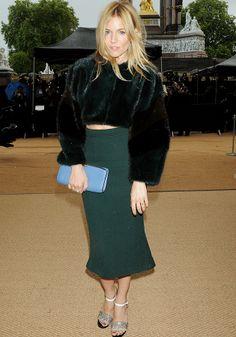 Sienna Miller London Fashion Week at Kensington Gardens 16th September 2013