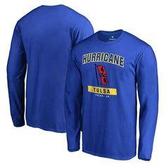 Tulsa Golden Hurricane Big & Tall Campus Icon Long Sleeve T-Shirt - Ash