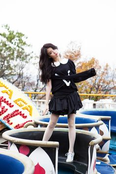 "IU on Regular album ""Last Fantasy Bts Girl, Famous Singers, Iu Fashion, Tights Outfit, Korean Artist, Her Music, Debut Album, Little Sisters, Fantasy"