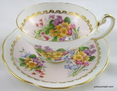 Foley Floral Posy Cabinet Cup and Saucer