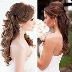 Wedding hair styles #bride #bridetobe #brautkleider #engaged #weddingday bugelinlik.com/en