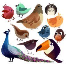 60 Best Ideas For Bird Cartoon Art Character Design Art And Illustration, Character Illustration, Art Illustrations, Cartoon Kunst, Cartoon Art, Desenho Kids, Animal Drawings, Art Drawings, Character Design Inspiration