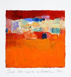 RIGHT NOW!  Jan 20 2012  Original Abstract Oil Painting  by hiroshimatsumoto, $60.00