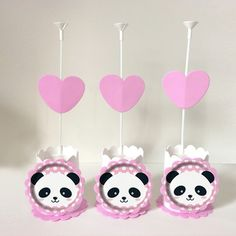 Centro de mesa Pandinha Panda Themed Party, Panda Party, Ideas Para Fiestas, Kids And Parenting, Party Themes, Birthday Parties, Baby Shower, Pink, Showers