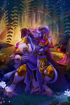 The Dream gives us shelter, the Dream gives us hope. Part 2 of my seasonal Dragon Aspect series. Nozdormu will be next for fall. ♥ Available as a print in my store HERE. World Of Warcraft 3, Warcraft Art, Warhammer 40000, Wow Draenei, Draenei Female, Night Elf, Fantasy Races, Medieval, Wow Art