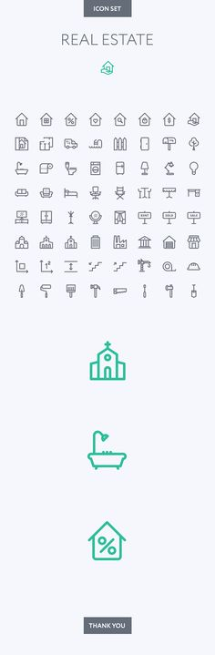 Real Estate icon set by Dmitriy Miroliubov, via Behance