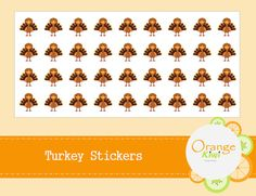 Items similar to Turkey Stickers - Thanksgiving Stickers - Turkey Planner Stickers on Etsy Planner Stickers, Turkey, Thanksgiving, Etsy, Thanksgiving Tree, Thanksgiving Crafts