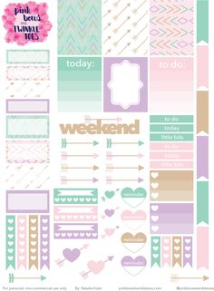 FREE PBTT: Tribal Kiss Sticker Sheet