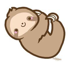 Cartoon Drawing Tutorial, Cute Cartoon Drawings, Disney Drawings, Animal Drawings, Sloth Bear, Baby Sloth, Pusheen, Cute Sloth Pictures, Cute Animal Clipart