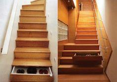 Escalera de cajones