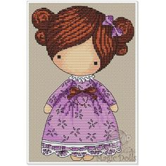 #mika__mila_katya #magic__dolls #crossstitch #вышивка  @magic__dolls  Lavender/Лаванда 65*98 stitch, 12 DMC color, 2 color beads, cross stitch, backstitch