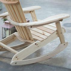 The Patio Porch All Weather Adirondack Rocking Chair - Natural makes for a great addition to any indoor or outdoor location. This Adirondack rocker is. Adirondack Rocking Chair, Rocking Chair Plans, Adirondack Chair Plans, Adirondack Furniture, Outdoor Rocking Chairs, Deck Chairs, Pallet Furniture, Rustic Furniture, Room Chairs