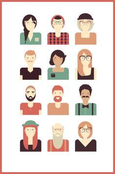 people icons set by student Alane Ellis