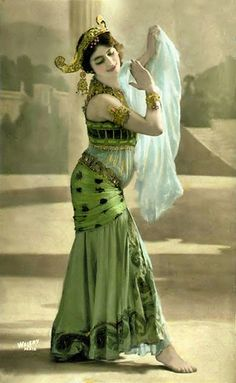 """Mata Hari ~ Margaretha Geertruida """"M'greet"""" Zelle McLeod (7 August 1876 – 15 October 1917), better known by the stage name Mata Hari, was a Dutch exotic dancer, courtesan, and accused spy who was executed by firing squad in France under charges of espionage for Germany during World War I."""