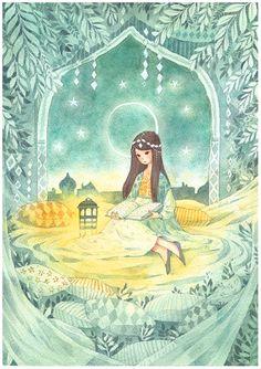 Storyteller , norwegian watercolor artwork, by pepperin.deviantart.com on @DeviantArt