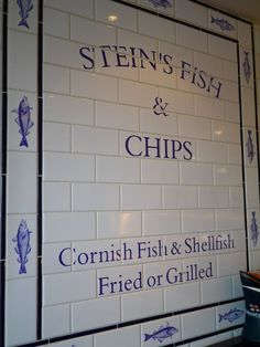 FOODIE CORNWALL: Rick Stein's Fish and Chips. 'Cornish Fish & shellfish Fried or Grilled'     ✫ღ⊰n