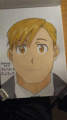 My drawing of Alphonse Elric - Fullmetal Alchemist