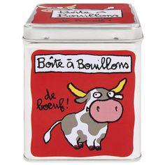 Boîte à cubes bouillons de Boeuf - Derrière La Porte DLP - Accessoire cuisine et rangement/Boîte métal et céramique - espritlogis-fr