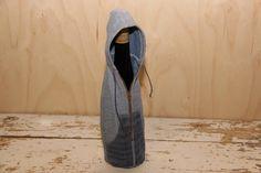 Hoodie denim coat , wine bottle cover , wine bottle cosy , wine bottle gift bag , funy wine bottle cover , hoodie jacket , denim hoodie by SecondBirthday on Etsy