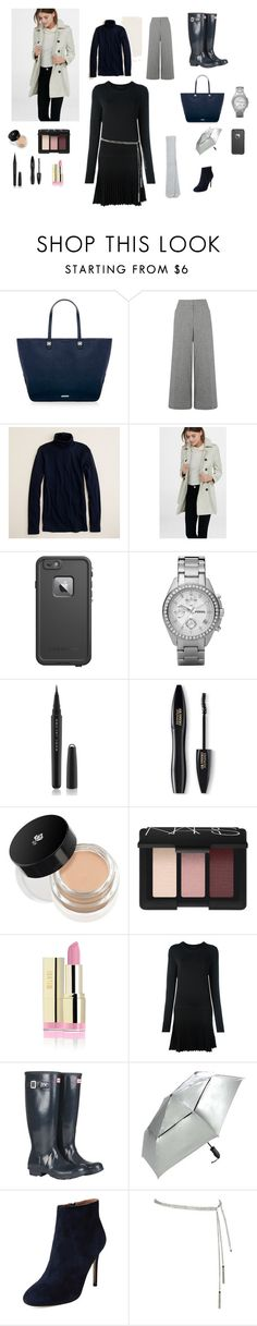 """""""London Meets Seattle"""" by psielschott ❤ liked on Polyvore featuring Rebecca Minkoff, Warehouse, J.Crew, Express, LifeProof, FOSSIL, Marc Jacobs, Lancôme, NARS Cosmetics and Diesel Black Gold"""
