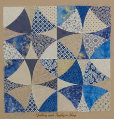 Winding Ways Block Tutorial – how to create your own winding ways blocks out of precut shapes that are available at the Quilting and Applique Shop