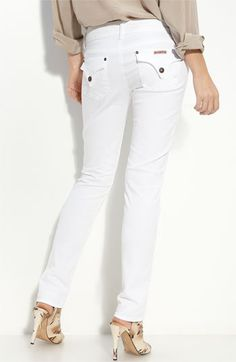 Hudson Jeans Skinny Stretch Jeans (New White Wash)  ITEM #332288        $165.00