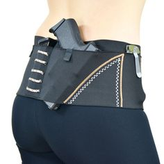 Can Can sport holster- Offers 3 holsters, an over-sized wallet pocket, a cell pocket and 2 standard mag pockets for all of your carrying needs. Great for running, hiking, and everyday activities!   Gun Holsters Sport Belt Desert Compression Belt Holster