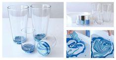 DIY: Wykorzystaj niepotrzebne lakiery do paznokci i stwórz z nami niesamowitą dekorację szklanki